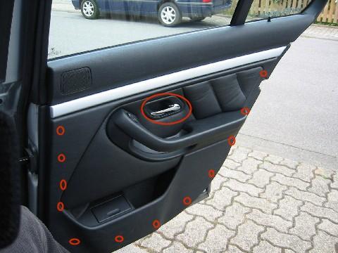 BMW E39 Ausbau T r T rverkleidung hinten